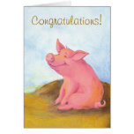 Tarjeta de felicitación guarra de Pinkles/de la en