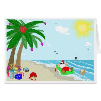 Tarjeta de felicitación hawaiana del navidad de Sa