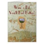¡Tarjeta de felicitación hermosa del vino!