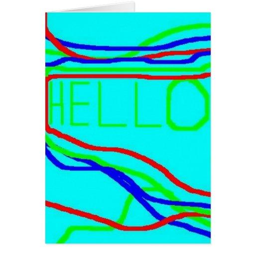 Tarjeta de felicitación: ¡HOLA!!!