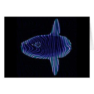 Tarjeta de felicitación ideal del Sunfish espacio