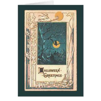 Tarjeta de felicitación inusual de Halloween
