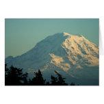 Tarjeta de felicitación: Invierno el Monte Rainier