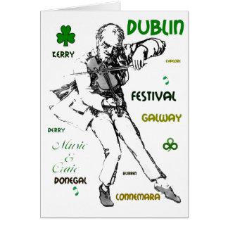 Tarjeta de felicitación irlandesa de la música