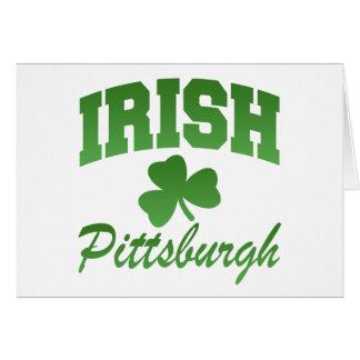 Tarjeta de felicitación irlandesa de Pittsburgh