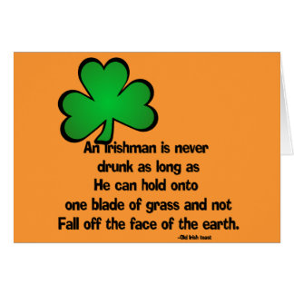 Tarjeta de felicitación irlandesa del feliz cumple