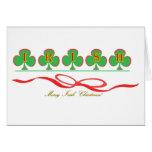 Tarjeta de felicitación irlandesa del navidad