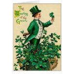 Tarjeta de felicitación irlandesa del vintage del