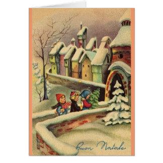 Tarjeta de felicitación italiana del navidad del