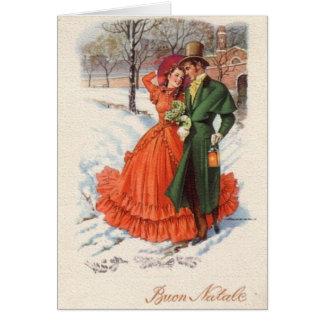 Tarjeta de felicitación italiana del navidad del V