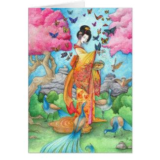 Tarjeta de felicitación japonesa del geisha de Mai