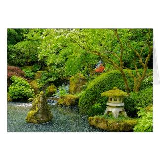 Tarjeta de felicitación japonesa del jardín