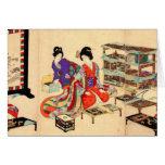 Tarjeta de felicitación japonesa del vintage