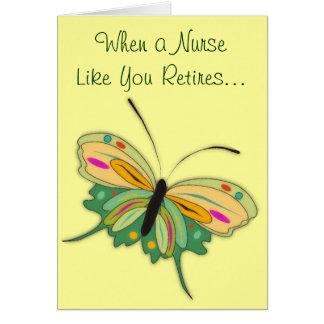 Tarjeta de felicitación jubilada de la enfermera