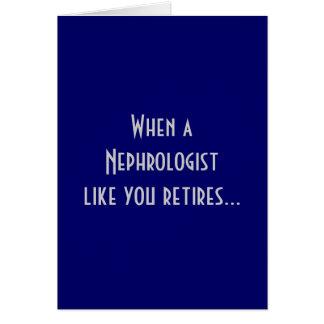 Tarjeta de felicitación jubilada del nefrólogo