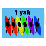 Tarjeta de felicitación Kayaking lesbiana gay