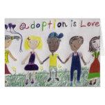 Tarjeta de felicitación - la adopción es amor