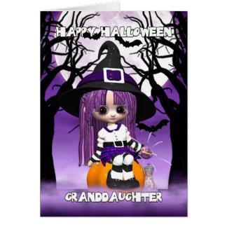 Tarjeta de felicitación linda de Halloween de la b