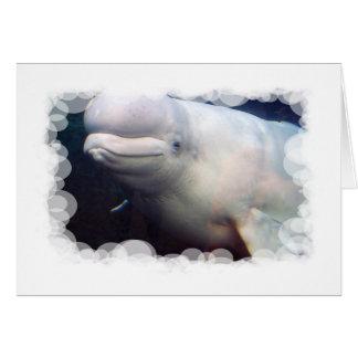 Tarjeta de felicitación linda de la ballena de la