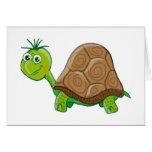 Tarjeta de felicitación linda de la tortuga