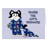 Tarjeta de felicitación linda de los pijamas de lo