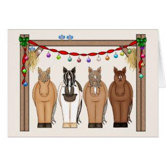 Tarjeta de felicitación linda del caballo del día