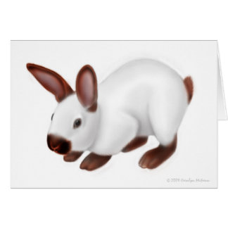 Tarjeta de felicitación linda del conejo del masco