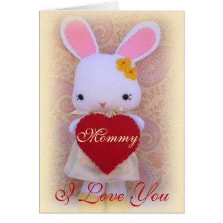 Tarjeta de felicitación linda del día de madre del