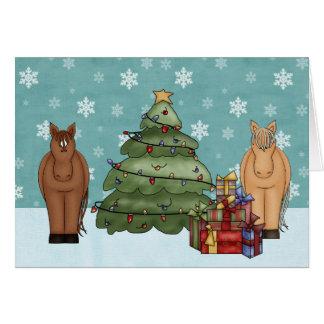 Tarjeta de felicitación linda del navidad del caba