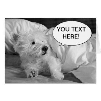 Tarjeta de felicitación linda del perro de Westie