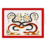 Tarjeta de felicitación lunar del Año Nuevo del ar