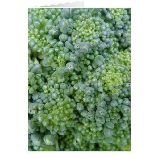 Tarjeta de felicitación macra del bróculi