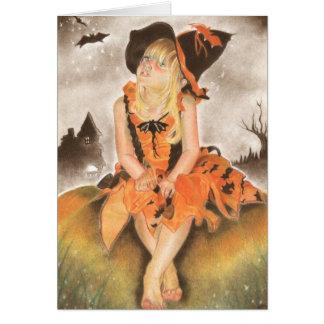 Tarjeta de felicitación mágica de Halloween