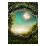 Tarjeta de felicitación mágica del árbol de la