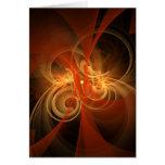 Tarjeta de felicitación mágica del arte abstracto