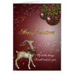 Tarjeta de felicitación mágica del reno del navida