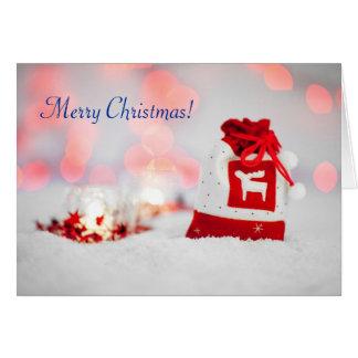 Tarjeta de felicitación magnífica del navidad