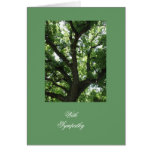 Tarjeta de felicitación majestuosa del árbol