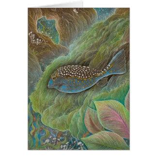 Tarjeta de felicitación manchada del boxfish