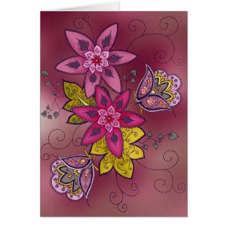 Tarjeta de felicitación marrón del tulipán (espaci