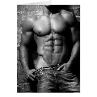 Tarjeta de felicitación masculina del modelo de la