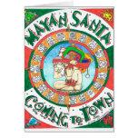 Tarjeta de felicitación maya de Santa