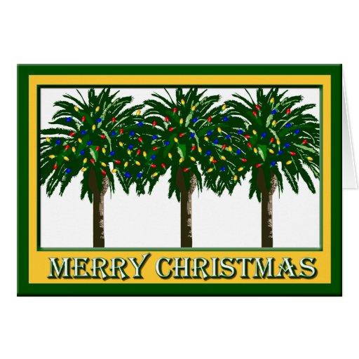 Tarjeta de felicitación meridional de la palmera d