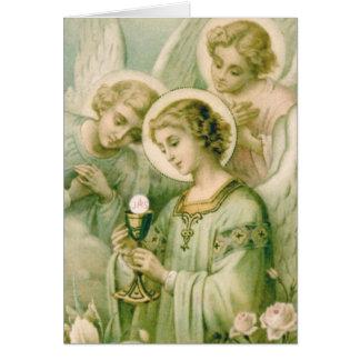 Tarjeta de felicitación: Mi alma Rends el velo