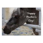 Tarjeta de felicitación miniatura del caballo