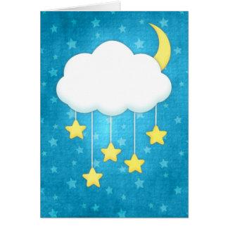 Tarjeta de felicitación móvil de la nube