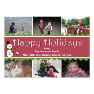 Tarjeta de felicitación multi de la foto del navid