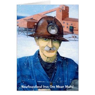 Tarjeta de felicitación mural del minero de Terran