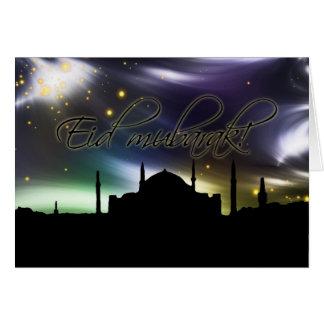 Tarjeta de felicitación musulmán del eid de la mez