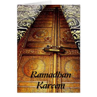 Tarjeta de felicitación musulmán islámica de Ramad